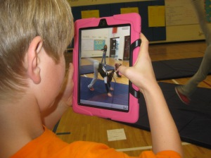 iPads in PE, iPads in gym