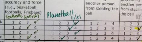 Physical Education Gradebook