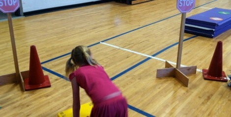 Integrate reading into fitness lesson
